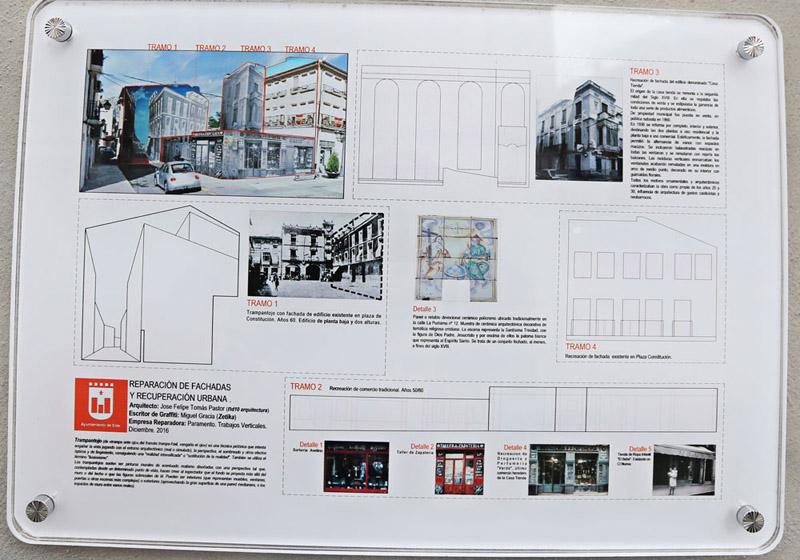 Arquitectura_cartel expositivo _tramos trampantojo_Elda