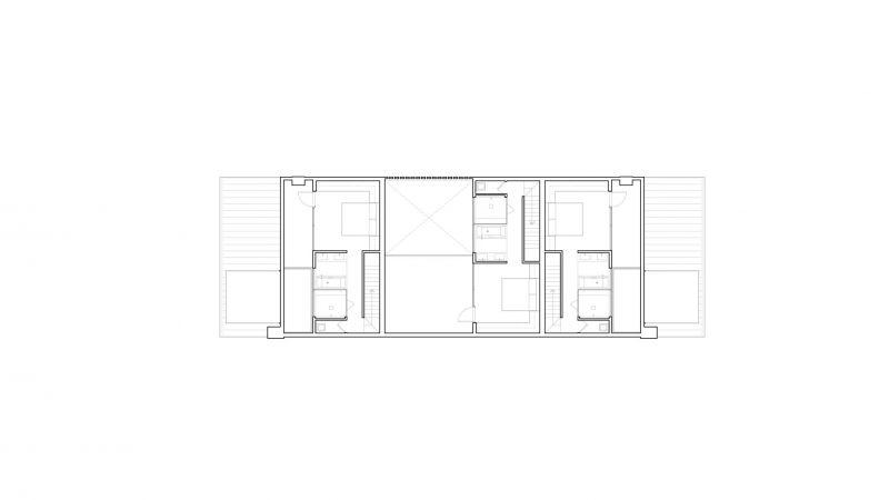 arquitetura Batay-Csorba Architects Triple Duplex Toronto planta segunda