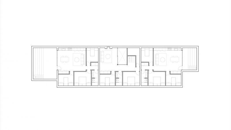 arquitetura Batay-Csorba Architects Triple Duplex Toronto planta sotano
