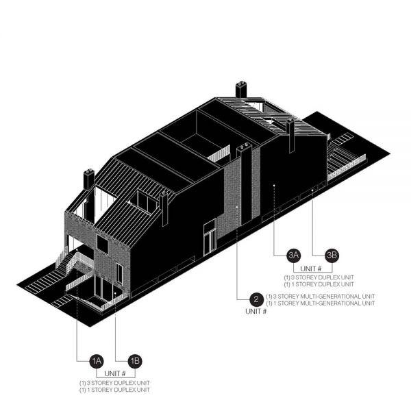 arquitetura Batay-Csorba Architects Triple Duplex Toronto volumen