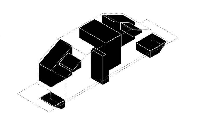 arquitetura Batay-Csorba Architects Triple Duplex Toronto volumen patios