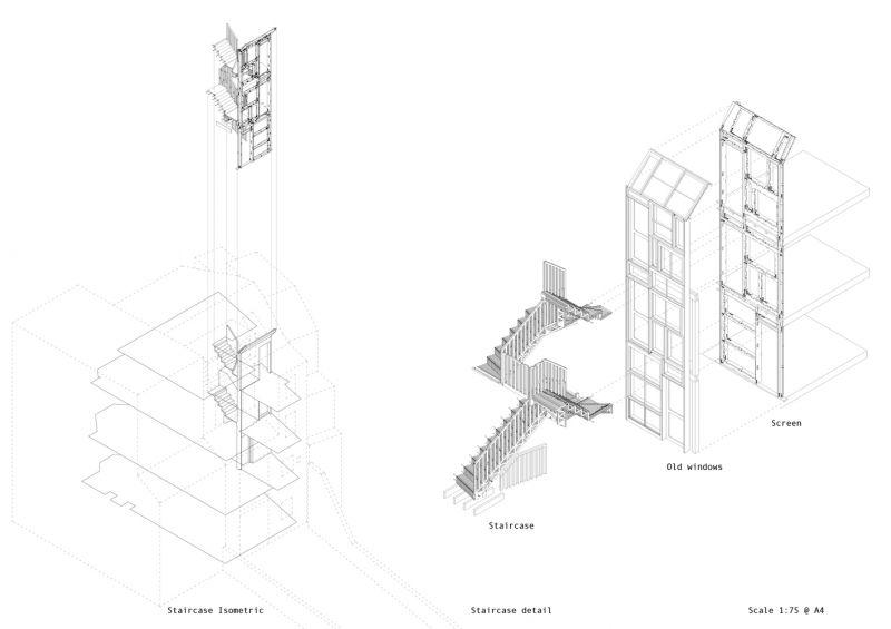 arquitectura_tsuruta_esquema escalera y tabique