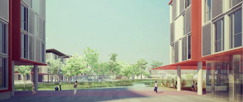 arquitectura, arquitecto, diseño, design, Vietnam, Universidad, campus, universitario, facultad, ciencia y tecnología, USTH Vietnam, As.Architecture-Studio, VHA Architects, Universidad de Ciencia y Tecnología de Hanoi, Hanoi, sostenible, sostenibilidad, ecología, ecológico, verde, green