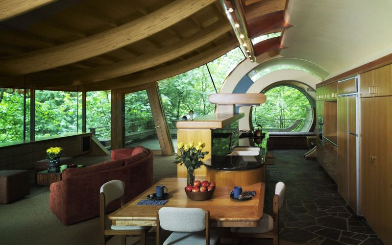 arquitectura verde_Wilkinson House salón-cocina