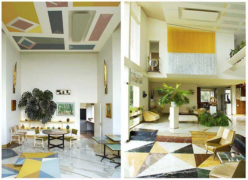 Arquitectura_Villa Planchart _G.Ponti _imagen de techos interiores