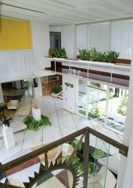 Arquitectura_Villa Planchart _G.Ponti_vista doble altura salon