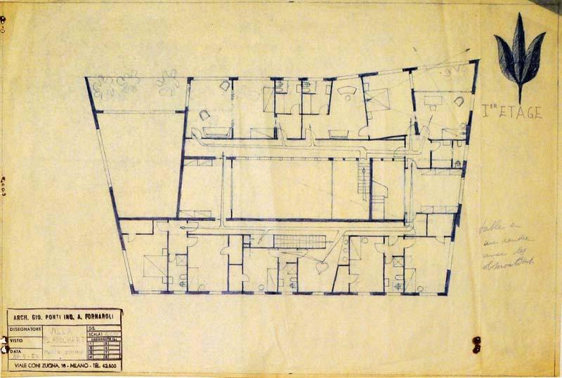 Arquitectura Villa planch-G. ponti_plano de planta baja