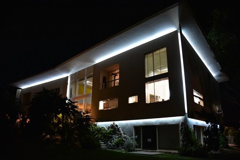 Arquitectura_Villa Planchart _G.Ponti_vista nocturna de la casa