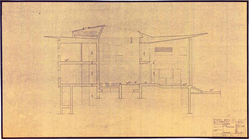 Arquitectura_Villa Planchart _G.Ponti _plano de sección