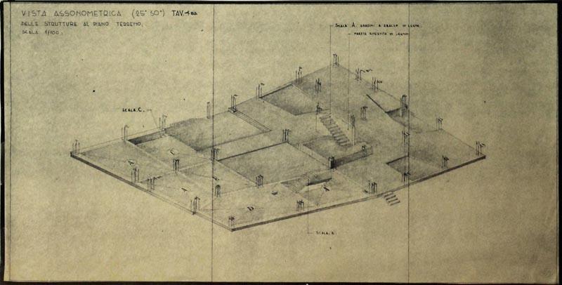 Arquitectura_Villa Planchart _G.Ponti _imagen plano axonometría  estructura