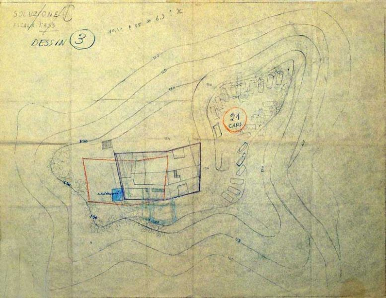 Arquitectura Villa planch-G. ponti_imagen de planos de Gponti