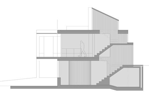 arquitectura_vivienda en Sanxenxo_HH arquitectos_sección