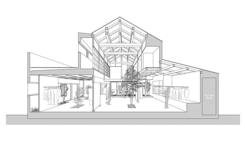 Arquitectura_vivienda japonesa 1940 a Tienda Bankara_perspectiva