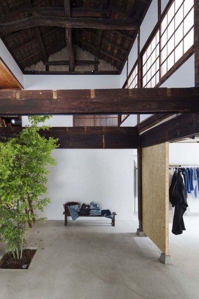 Arquitectura_vivienda japonesa 1940 a Tienda Bankara_vista de cubierta de madera interior