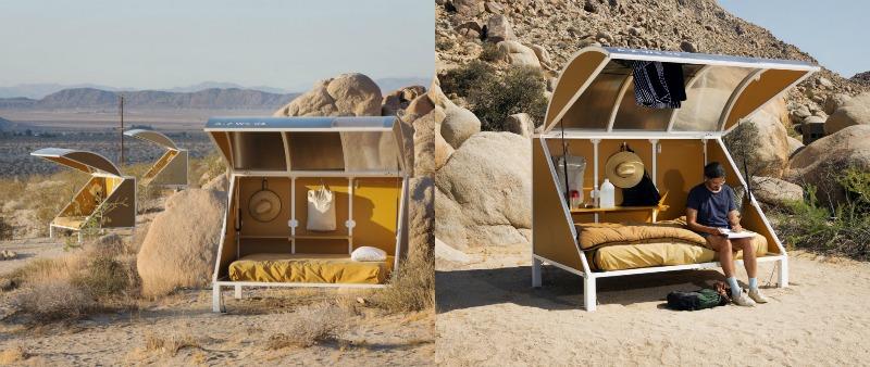 arquitectura, arquitecto, diseño, design, campamento, camping, artista, naturaleza, autoexploración, Andrea Zittel, California, Estados Unidos, EE.UU., Lance Brewer, Parque Nacional Joshua Tree