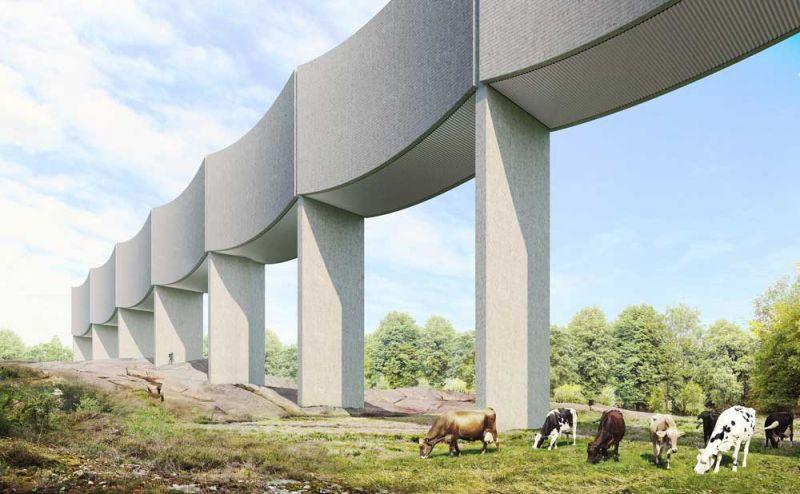 arquitectura White Arkitekter VAGA imagen colina vacas