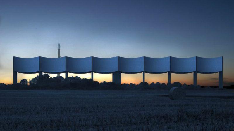 arquitectura White Arkitekter VAGA imagen nocturna