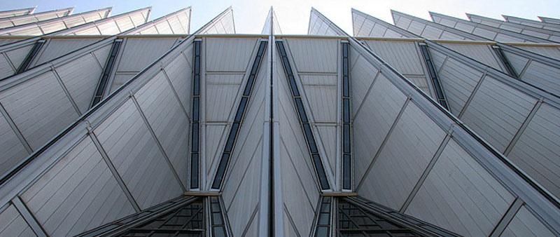 arquitectura, diseño, Walter Netsch, historia, capilla cadetes colorado