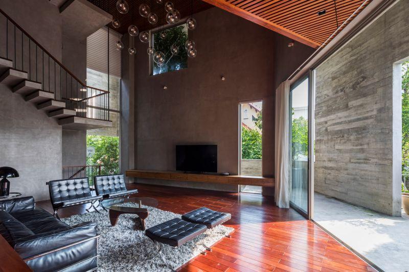 Interior vivienda de hormigón visto