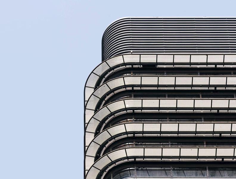 Facahada  de la sede del banco de Bilbao