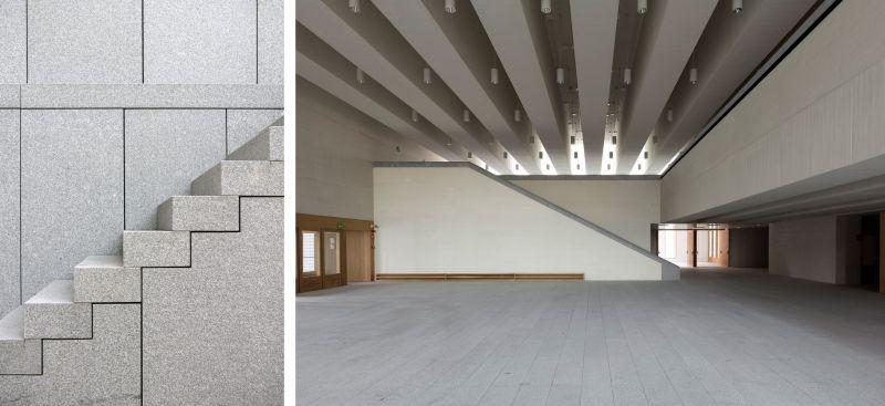 Detalle escaleras e interior del museo