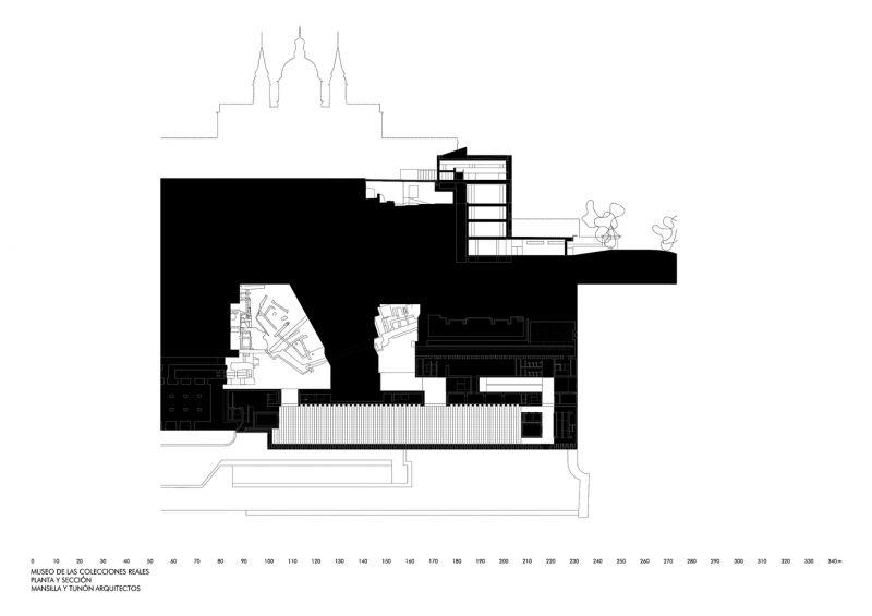Plano de planta del interior del museo