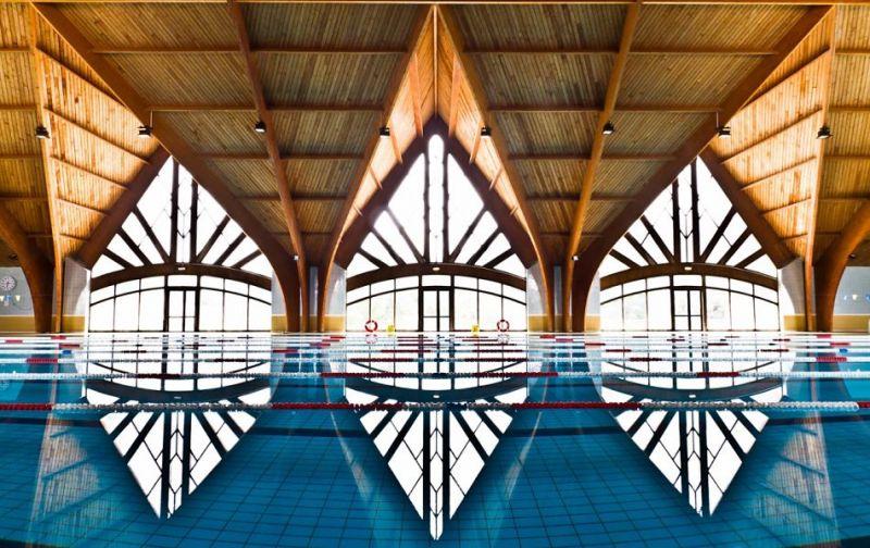 Piscina de tamaño olímpico de universidad Al Akhawayn
