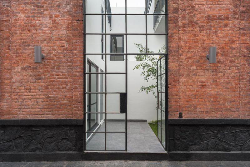 arquitectura acceso a viviendas Conjunto Habitacional María Ribera