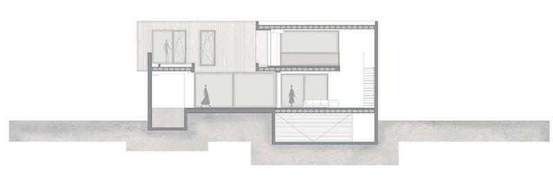 arquitectura casa alqueria antonio altarriba che cuerpos huecos seccion