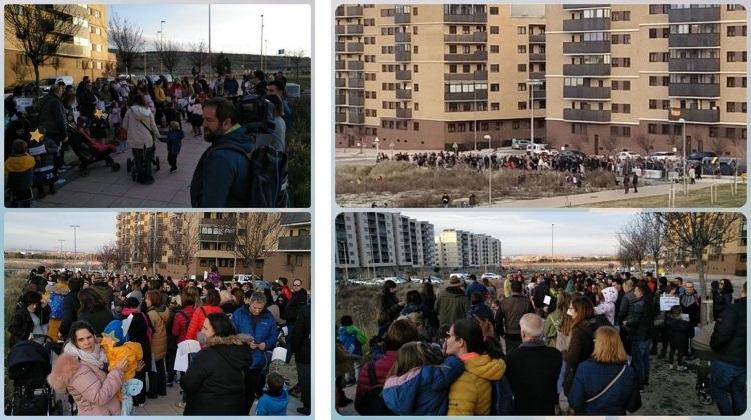 Manifestaciones en Arcosur (Zaragoza)