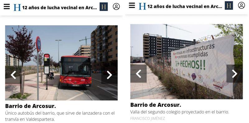 Problemas en Arcosur (barrio de Zaragoza)