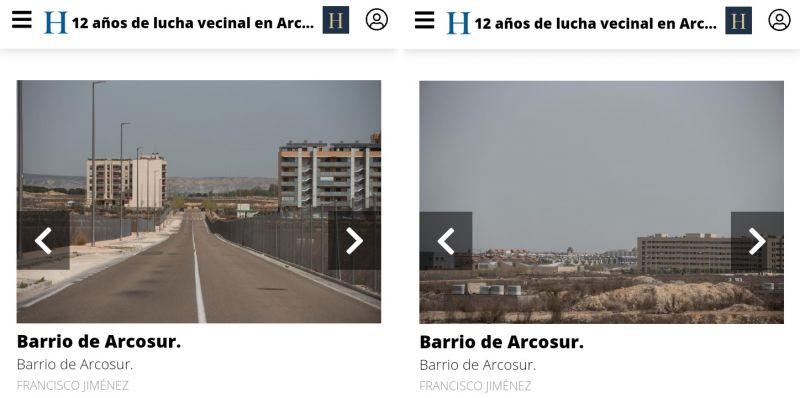 Solares vacíos en Arcosur (barrio de Zaragoza)