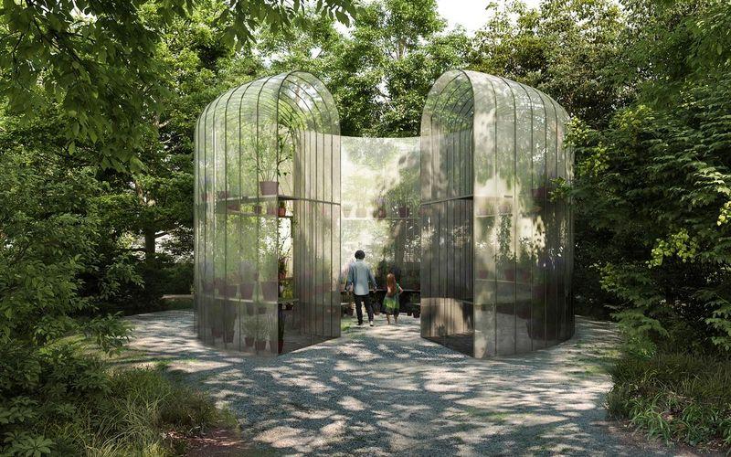Intervención de Kengo Kuma en Jardin Gulbenkian