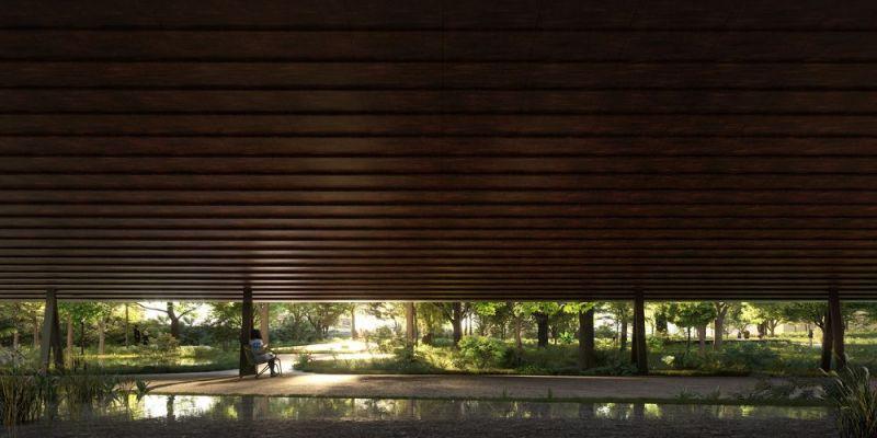 Nueva entrada y ampliación de los jardines de la fundación gulbenkian