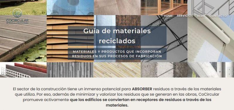 Guía de materiales reciclados o reutilizados - Cocircular