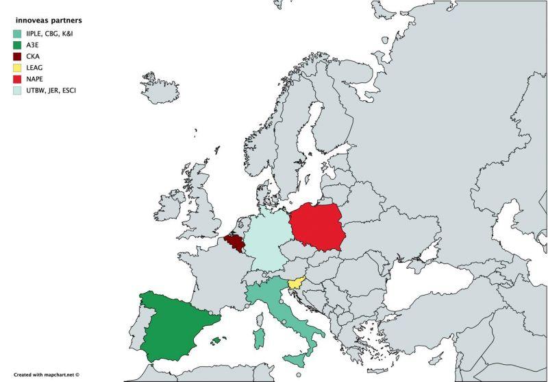 Países colaboradores con el proyecto Innoveas