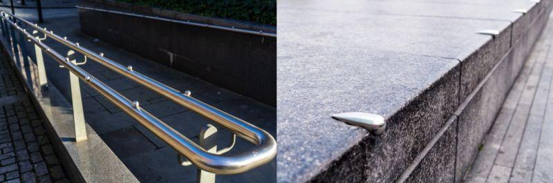 Barandillas y superficies con piezas salientes anti-skate - Freepik