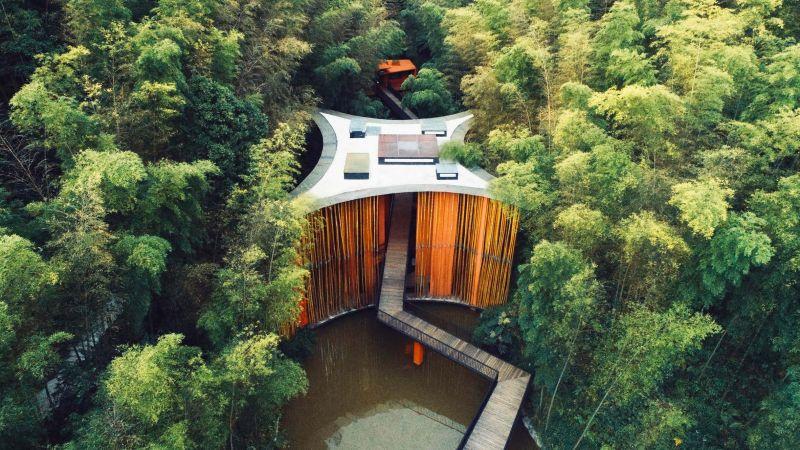 arquitectura_y_empresa_Bamboo gateaway_ estanque