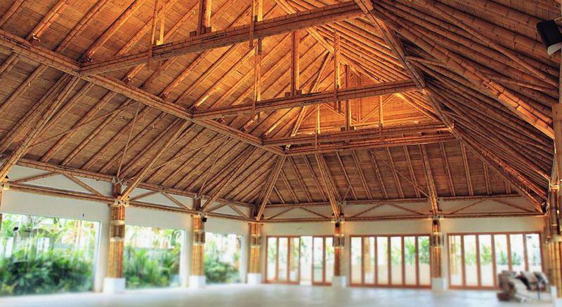 arquitectura basa estructura de acero de bambu