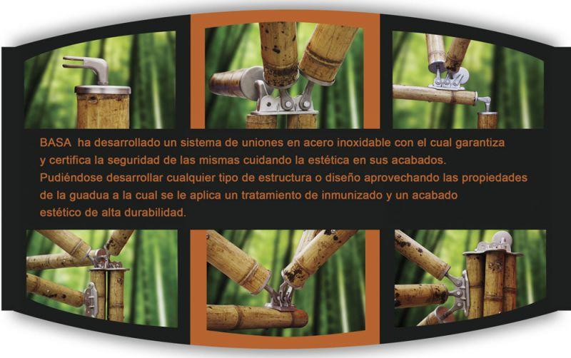 arquitectura basa estructura de acero de bambu uniones
