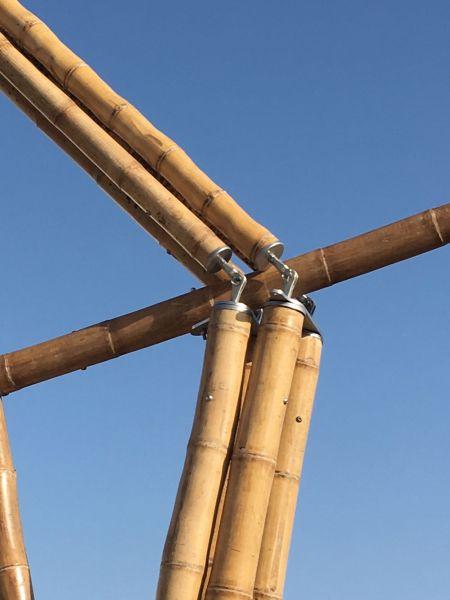 arquitectura basa estructura de acero de bambu DETALLE