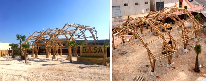 arquitectura basa estructura de acero de bambu carpa