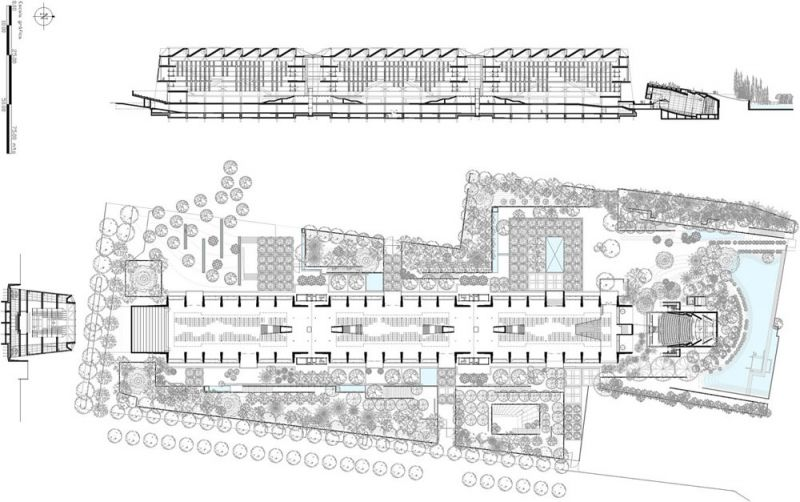 arquitectura biblioteca vasconcelos alberto kalach planta y seccion