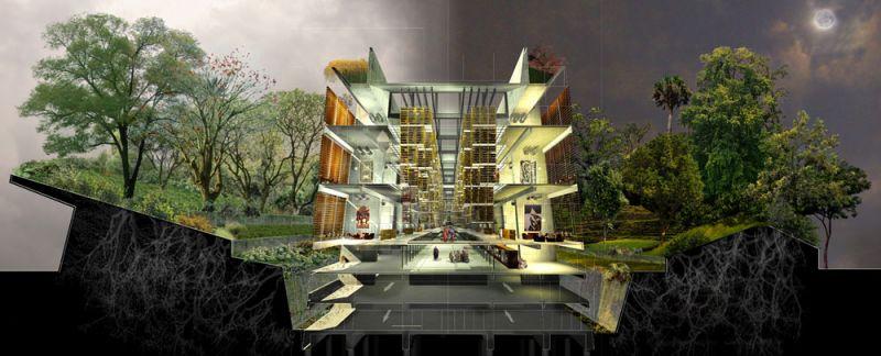 arquitectura biblioteca vasconcelos alberto kalach seccion