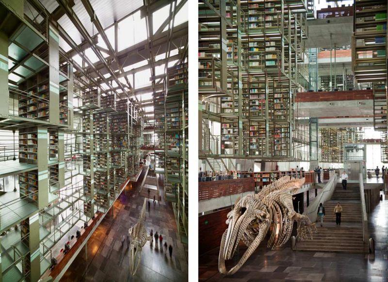 arquitectura biblioteca vasconcelos alberto kalach acceso ballena