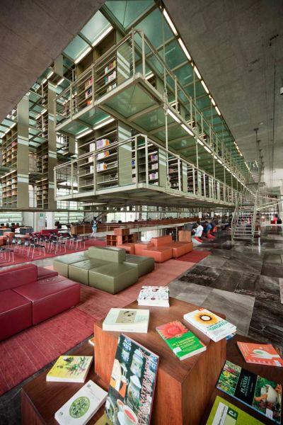 arquitectura biblioteca vasconcelos alberto kalach pasarelas