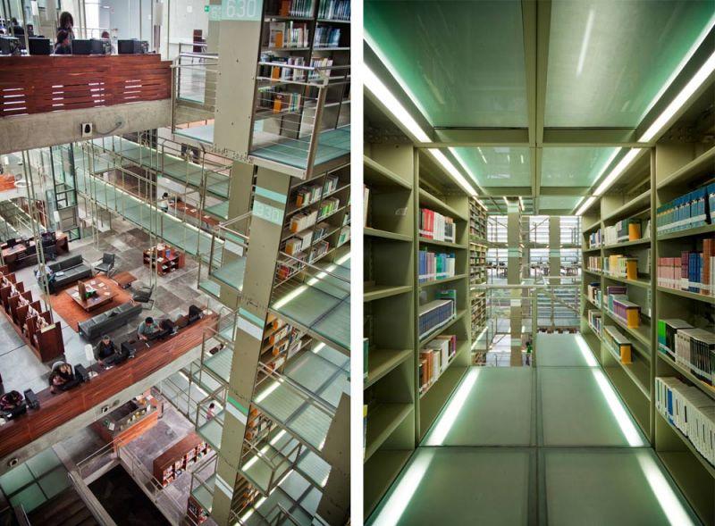 arquitectura biblioteca vasconcelos alberto kalach pasillos estanterias