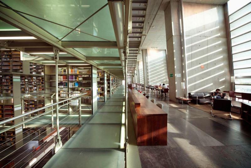 arquitectura biblioteca vasconcelos alberto kalach pasillo lectura