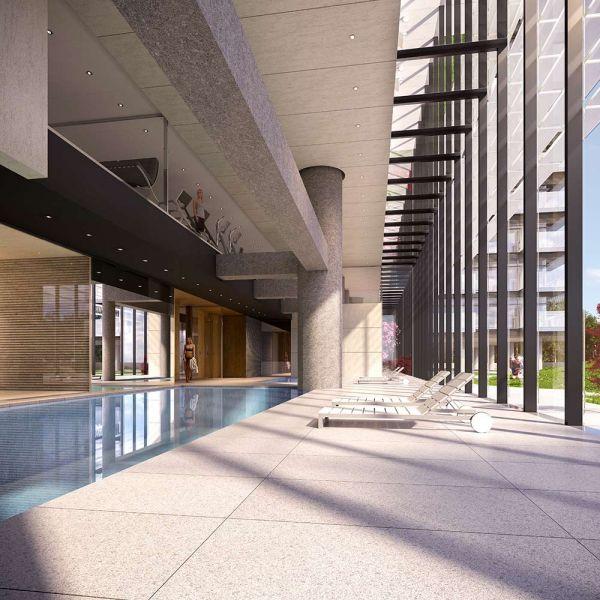 arquitectura torres up-site Bueso-Inchausti & Rein Arquitectos render hall interior