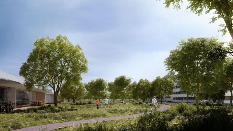 arquitectura campus civitas rafael de la-hoz render campus jardines